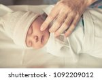 cute little new born baby boy... | Shutterstock . vector #1092209012