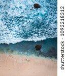 klingling beach cliff  nusa... | Shutterstock . vector #1092218312
