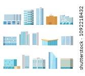 modern city buildings  isolated ... | Shutterstock .eps vector #1092218432
