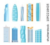 modern city skyscrapers... | Shutterstock .eps vector #1092218435