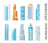 modern city skyscrapers... | Shutterstock .eps vector #1092218438