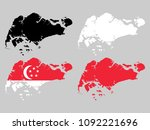 singapore map with national... | Shutterstock .eps vector #1092221696