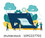 vector flat illustration ... | Shutterstock .eps vector #1092227702