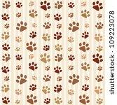 Brown Footprints Seamless...