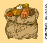 bag of cocoa beans of the... | Shutterstock .eps vector #1092236522