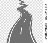 winding road vector illustration | Shutterstock .eps vector #1092241415