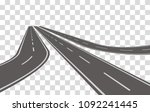 winding road vector illustration   Shutterstock .eps vector #1092241445