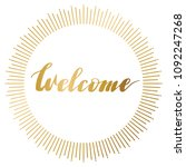 background with word welcome.... | Shutterstock .eps vector #1092247268