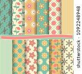 set of abstract vector paper...   Shutterstock .eps vector #1092248948