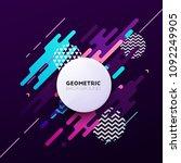 abstract geometric vector... | Shutterstock .eps vector #1092249905