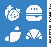 set of 4 food filled icons such ... | Shutterstock .eps vector #1092254582