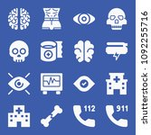 set of 16 medical filled icons...   Shutterstock .eps vector #1092255716