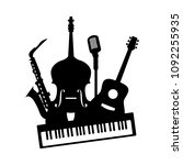 music jazz band icon. group of... | Shutterstock .eps vector #1092255935