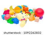children s toys isolate on a... | Shutterstock . vector #1092262832