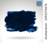 blue brush stroke and texture.... | Shutterstock .eps vector #1092274676