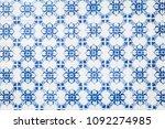 turkish ceramic tiles wall... | Shutterstock . vector #1092274985