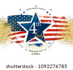4th july independence day card... | Shutterstock .eps vector #1092276785