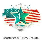 4th july independence day card... | Shutterstock .eps vector #1092276788