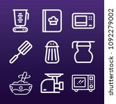cooking icon set   outline... | Shutterstock .eps vector #1092279002