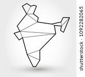 black outline map of india ...   Shutterstock .eps vector #1092282065