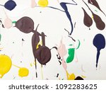 artists oil paints multicolored ... | Shutterstock . vector #1092283625