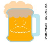 beer with a mustache icon | Shutterstock .eps vector #1092287456