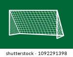 soccer goal flat icon. vector... | Shutterstock .eps vector #1092291398
