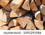 firewood background  chopped... | Shutterstock . vector #1092291986