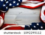 the flag of the united sates of ... | Shutterstock . vector #1092295112