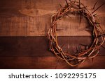 an authentic crown of thorns on ...   Shutterstock . vector #1092295175