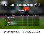 football results table.... | Shutterstock .eps vector #1092296135