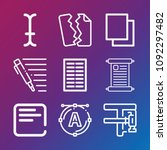 text icon set   outline... | Shutterstock .eps vector #1092297482