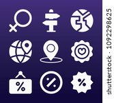 signs icon set   filled... | Shutterstock .eps vector #1092298625
