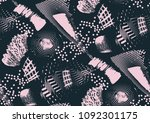 vector seamless pattern with... | Shutterstock .eps vector #1092301175