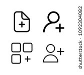 outline add icon set such as... | Shutterstock .eps vector #1092304082