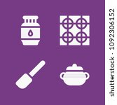 filled cooking icon set such as ... | Shutterstock .eps vector #1092306152