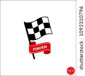checkered racing flag icon.... | Shutterstock .eps vector #1092310796
