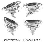 hurricane storm tornado mockup... | Shutterstock .eps vector #1092311756