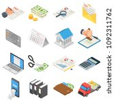 taxes accounting money icons... | Shutterstock .eps vector #1092311762