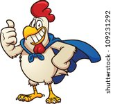 cartoon super chicken. vector... | Shutterstock .eps vector #109231292