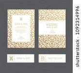 luxury wedding invitation or...   Shutterstock .eps vector #1092314996