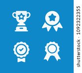 filled award icon set such as... | Shutterstock .eps vector #1092322355
