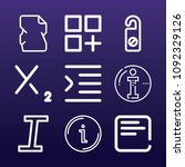 signs icon set   outline... | Shutterstock .eps vector #1092329126