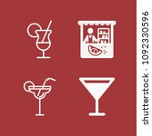 filled set of 4 drinks icons... | Shutterstock .eps vector #1092330596