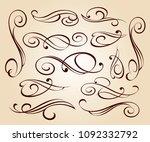 calligraphic elegant elements... | Shutterstock .eps vector #1092332792