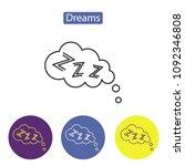 dreams line icon vector... | Shutterstock .eps vector #1092346808