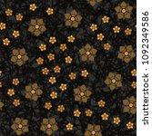 seamless pattern. chaotically...   Shutterstock .eps vector #1092349586