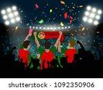 group of supporter hold...   Shutterstock .eps vector #1092350906