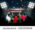 group of supporter hold egypt... | Shutterstock .eps vector #1092350948