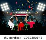group of supporter hold egypt... | Shutterstock .eps vector #1092350948